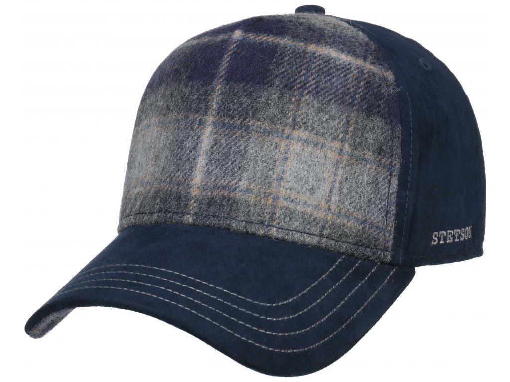 Vlněná  modrá kšiltovka Stetson - Trucker cap