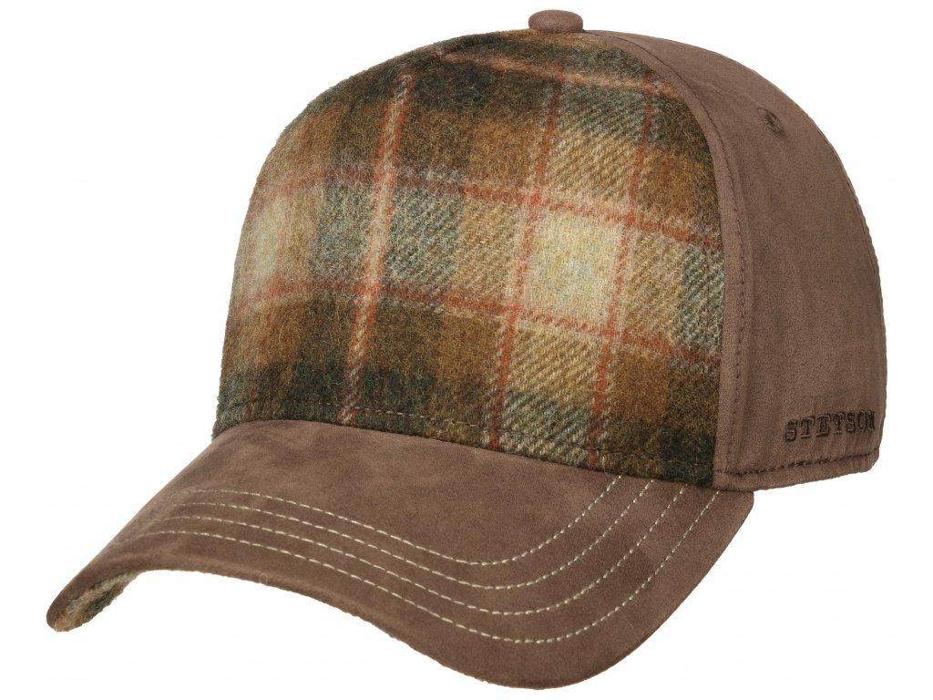Vlněná hnědá zimní kšiltovka Stetson - Trucker cap