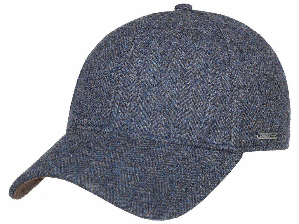 Vlněná klasická modrá kšiltovka Stetson - Baseball Cap wool - 7720502