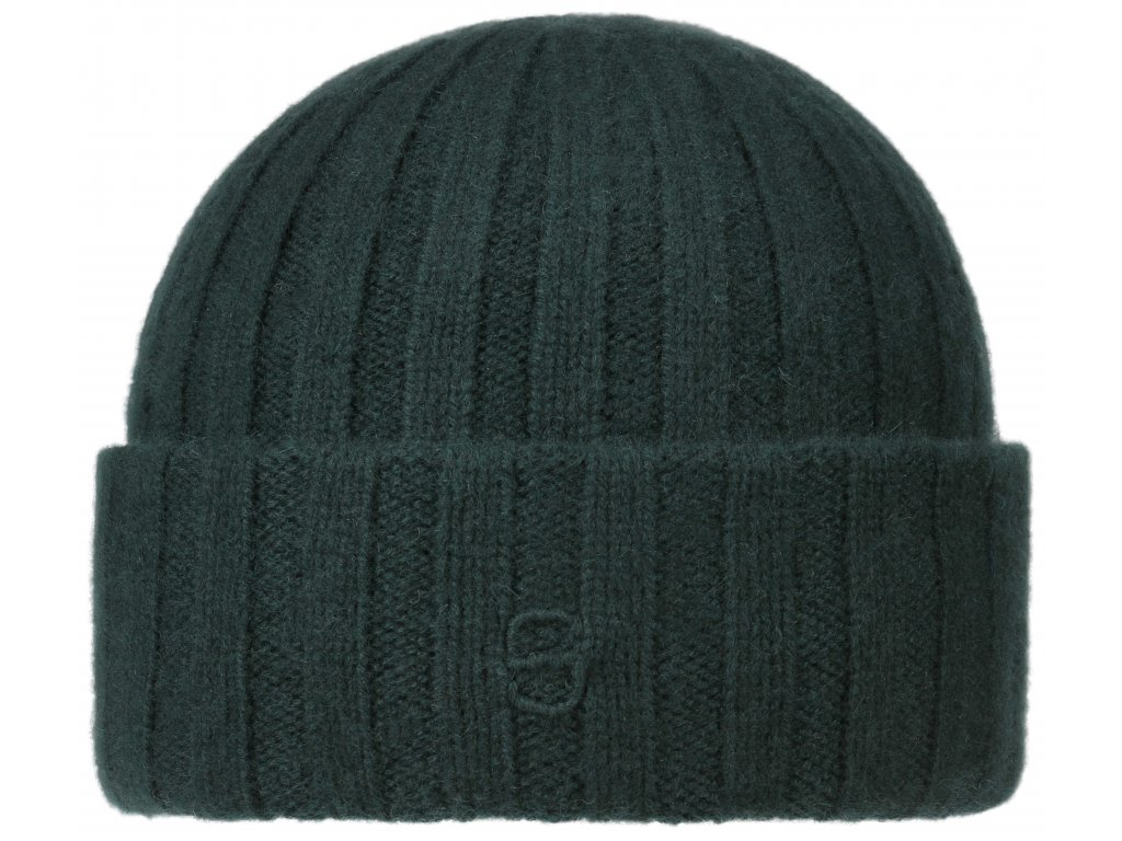 Kašmírová pánská zelená čepice Stetson - Beanie Cashmere - 8539201