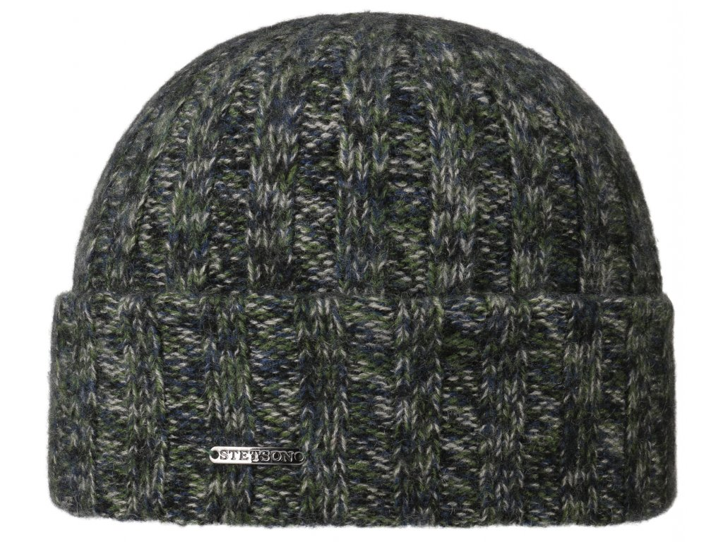 Kašmírová teplejší zelenomodrá čepice od Stetson - 8599210