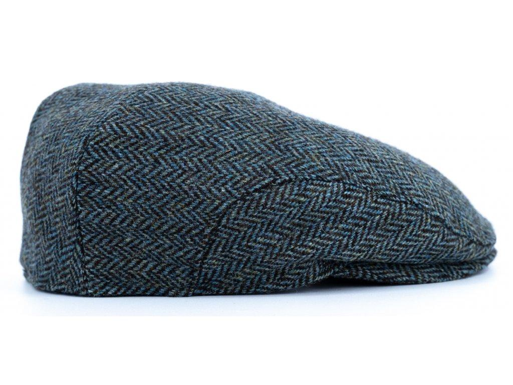 Pánská tvídová zimní zelená bekovka (ušní klapky) - Driver cap Personality 281420