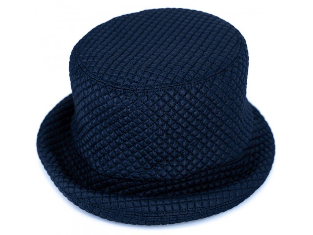 Klobouček tmavěmodrý nepromokavý prošivaný - Bucket Hat