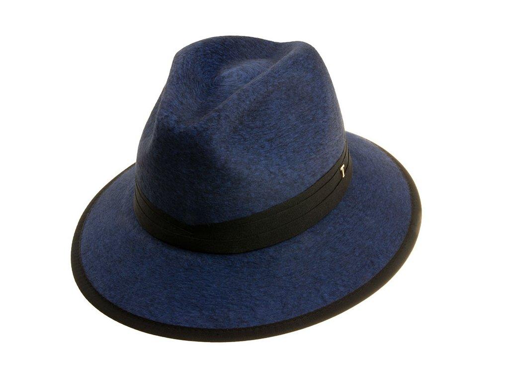 Unisex modrý klobouk fedora Tonak 53532/18