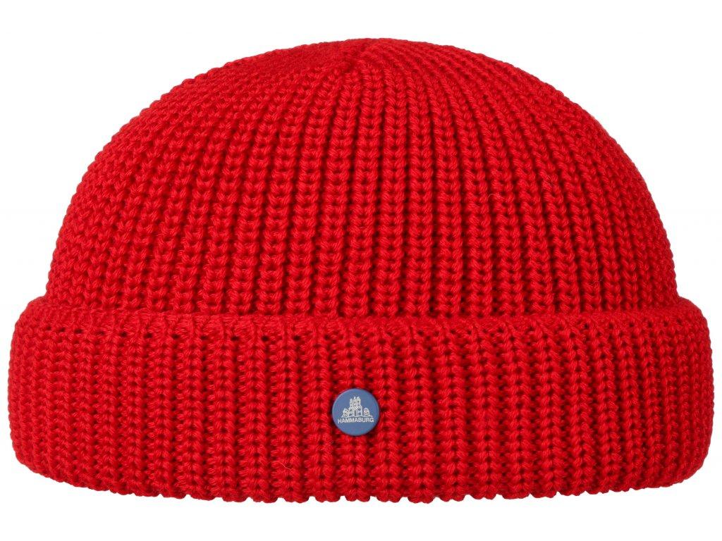 Pletená červená zimní čepice Stetson - Beanie Hammaburg  - 8599329 - Docker Cap