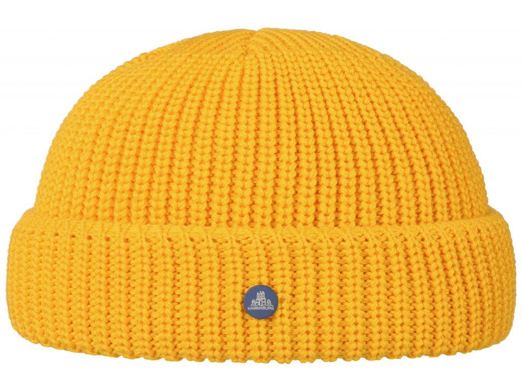 Pletená žlutá zimní čepice Stetson - Beanie Hammaburg  - 8599329 - Docker Cap