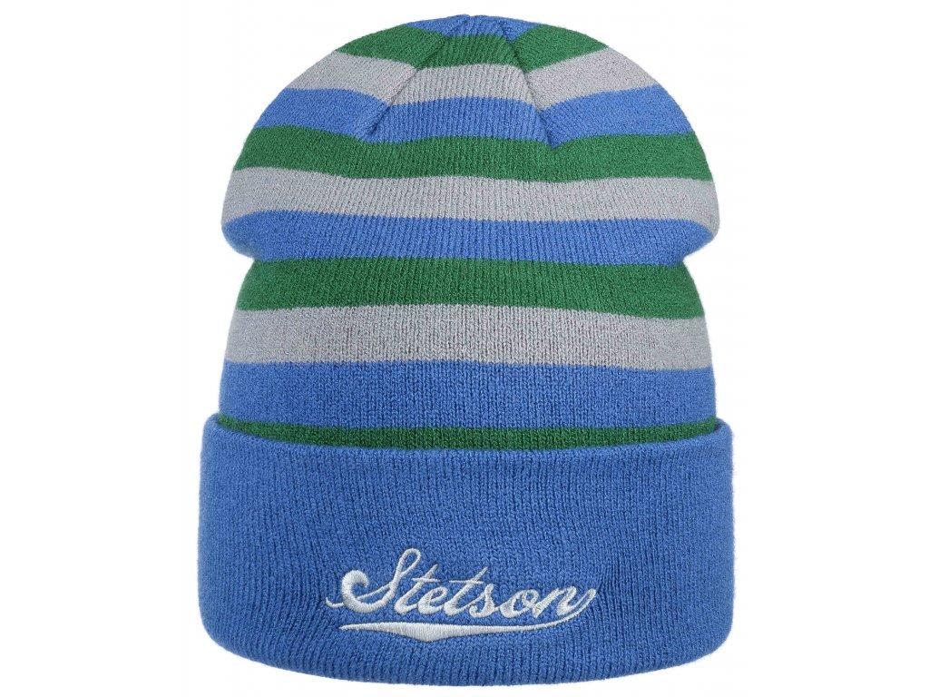 Pletená pruhovaná zimní čepice Stetson - Beanie Stripes  - 8599120