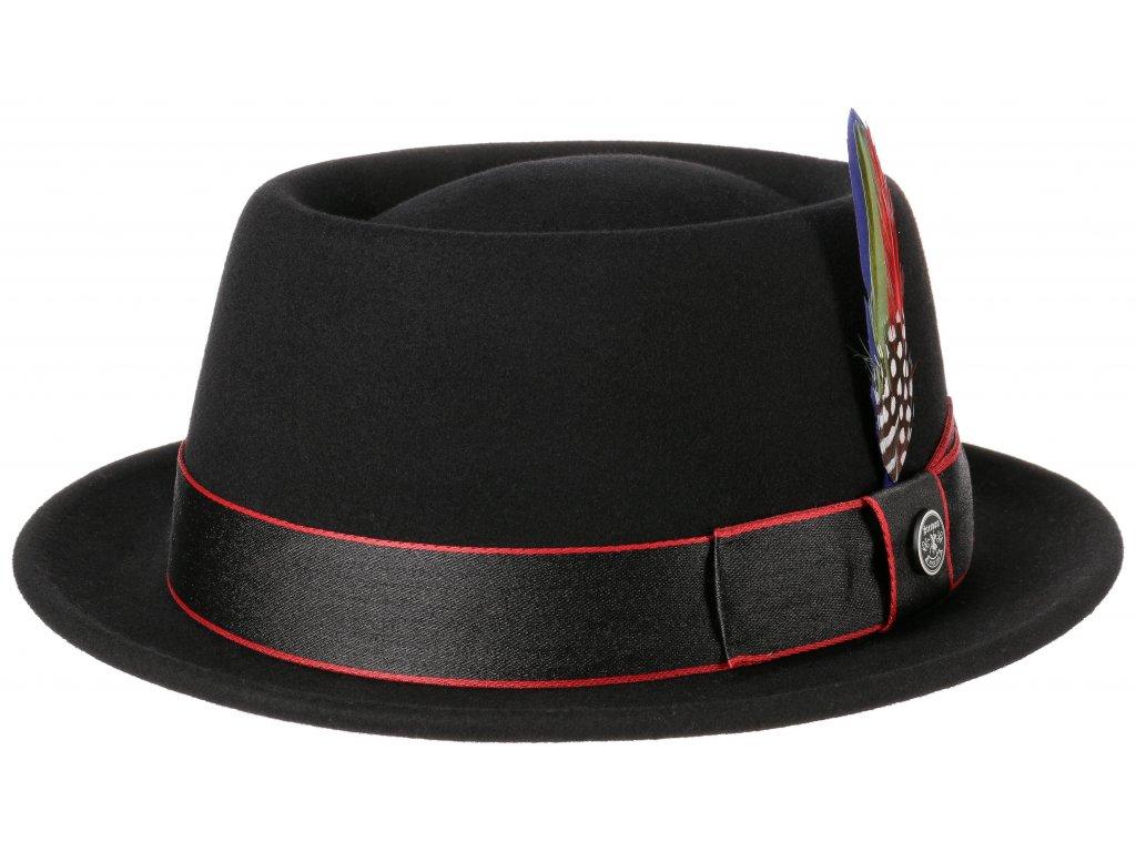 Plstěný klobouk porkpie - Stetson - černý kašmírový klobouk - 1658103