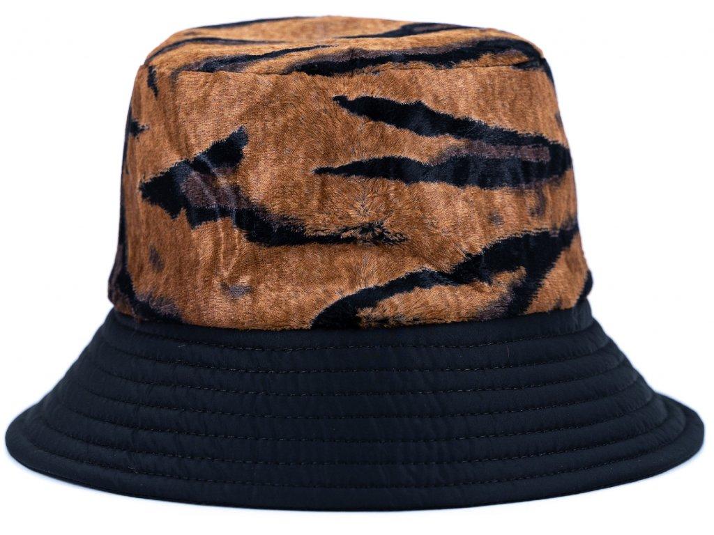 Černý nepromokavý dámský klobouček - bucket hat Personality