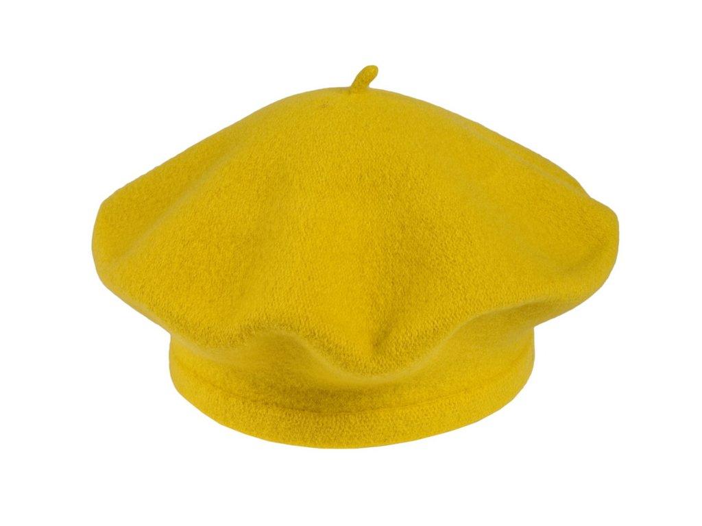 Flora 001 110353 baret pleteny vlneny zluty