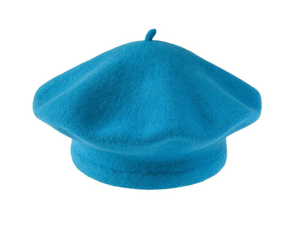 Flora 001 150609 baret pleteny vlneny modry