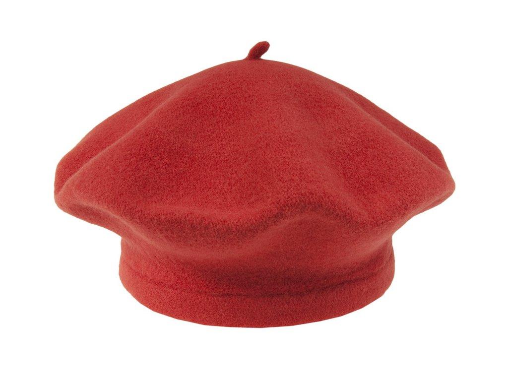 Flora 001 030115 baret pleteny vlneny cerveny