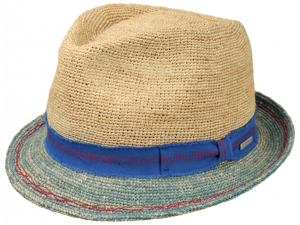 Slaměný klobouk Trilby Crochet - Stetson Bestseller 1238517