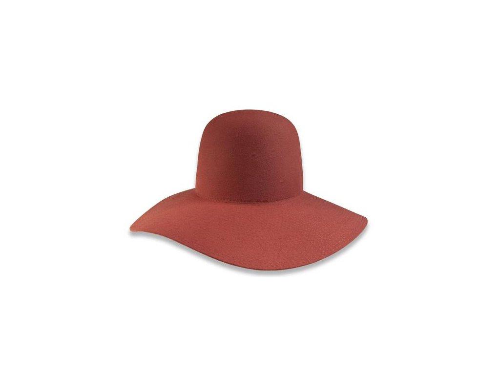 Cihlový klobouk Tonak s širokou krempou  52924/15