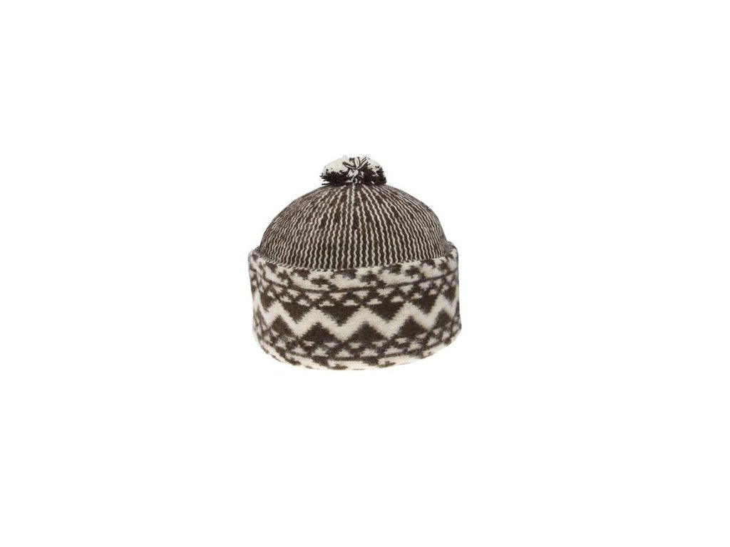 Triton 011 000004 cepice pletena vlnena zmijovka hneda