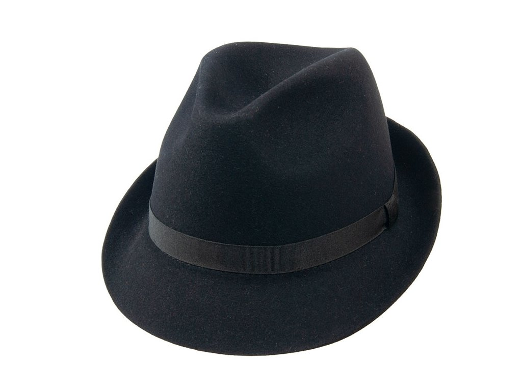 Plstěný černý klobouk Trilby -  Tonak 10108/05