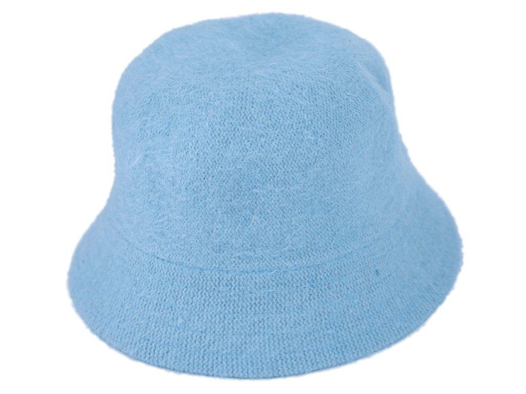 3687 chlupaty klobouk typu bucket barva svetlemodra cut