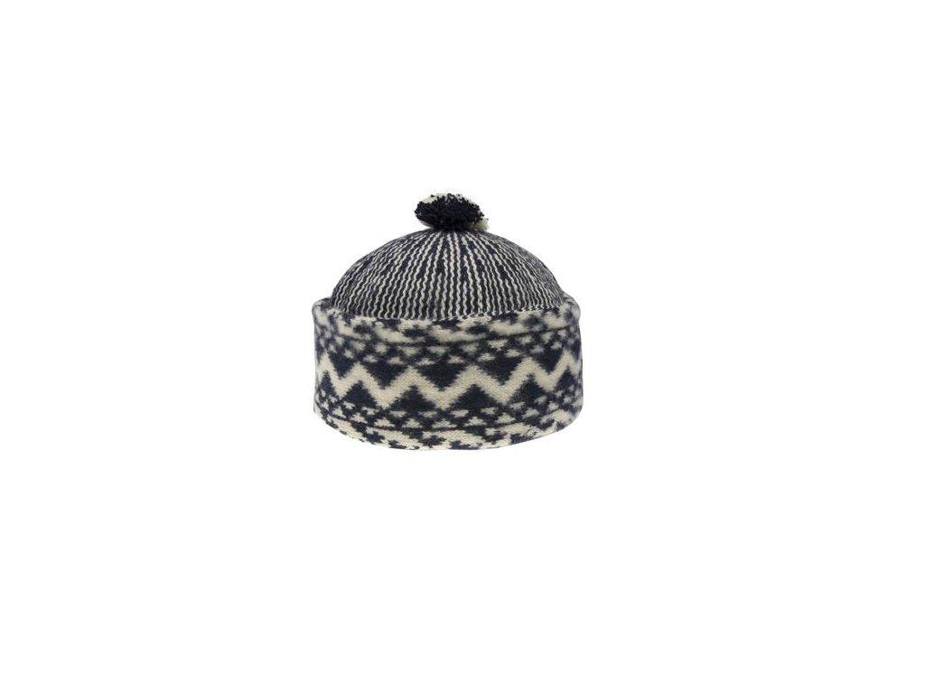 Triton 011 000003 cepice pletena vlnena zmijovka cerna