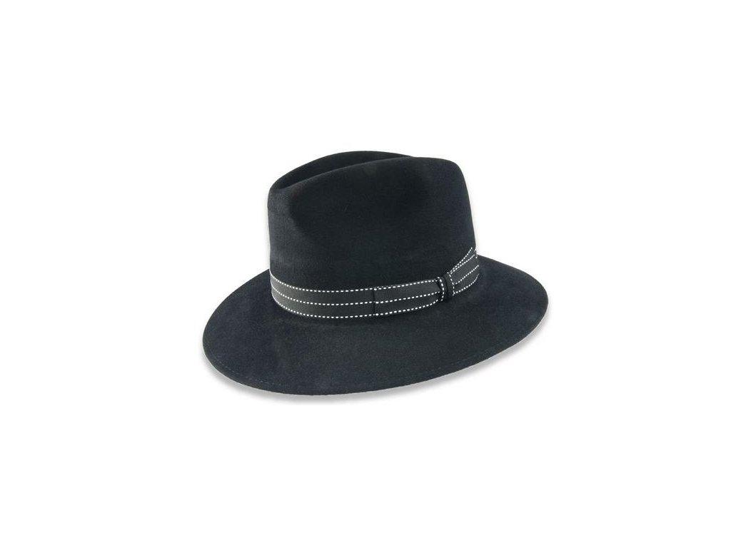 Luxusní černý plstěný klobouk -  Tonak 10129/05