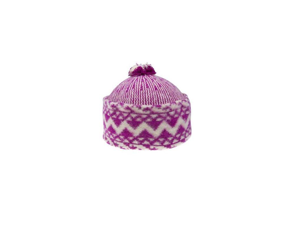 Triton 011 000011 cepice pletena vlnena zmijovka fialova