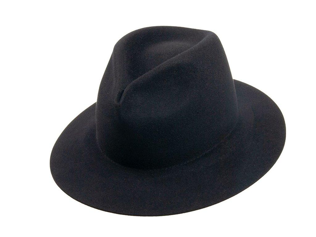 Černý plstěný klobouk  z měkké plsti - Tonak 11507/13
