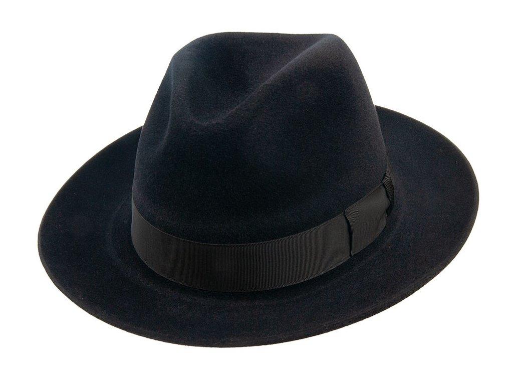 Luxusní plstěný klobouk - Fedora Tonak 11580/13 - černá barva