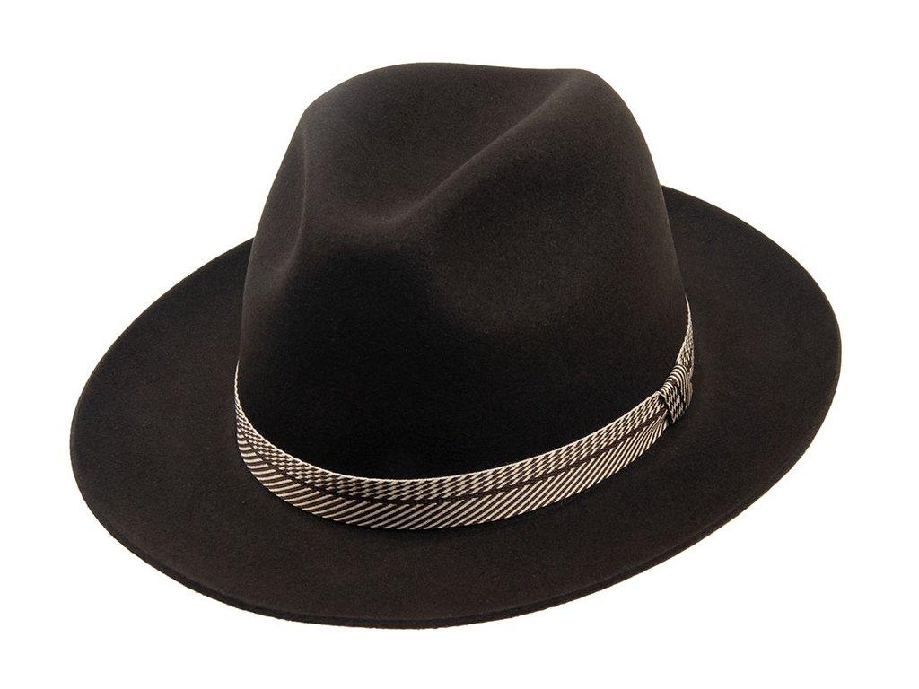 Černý plstěný pánský klobouk Tonak 12049/15