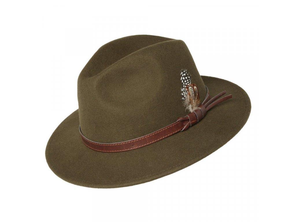 Pánský zelený vlněný klobouk - Carlsbad Hat Co.