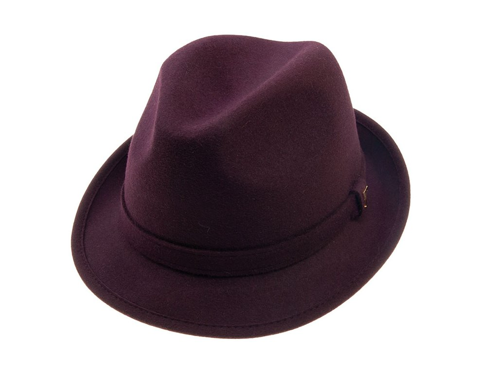 Fialový trilby klobouk Tonak 21145/17