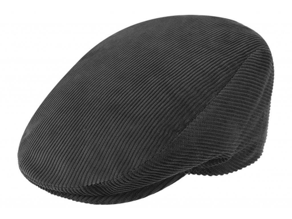 Pánská šedá manšestrová zimní bekovka s prošívanou podšívkou