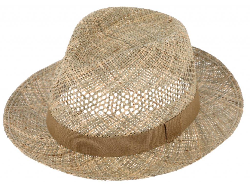 Slaměný klobouk z mořské trávy Fiebig - Fedora