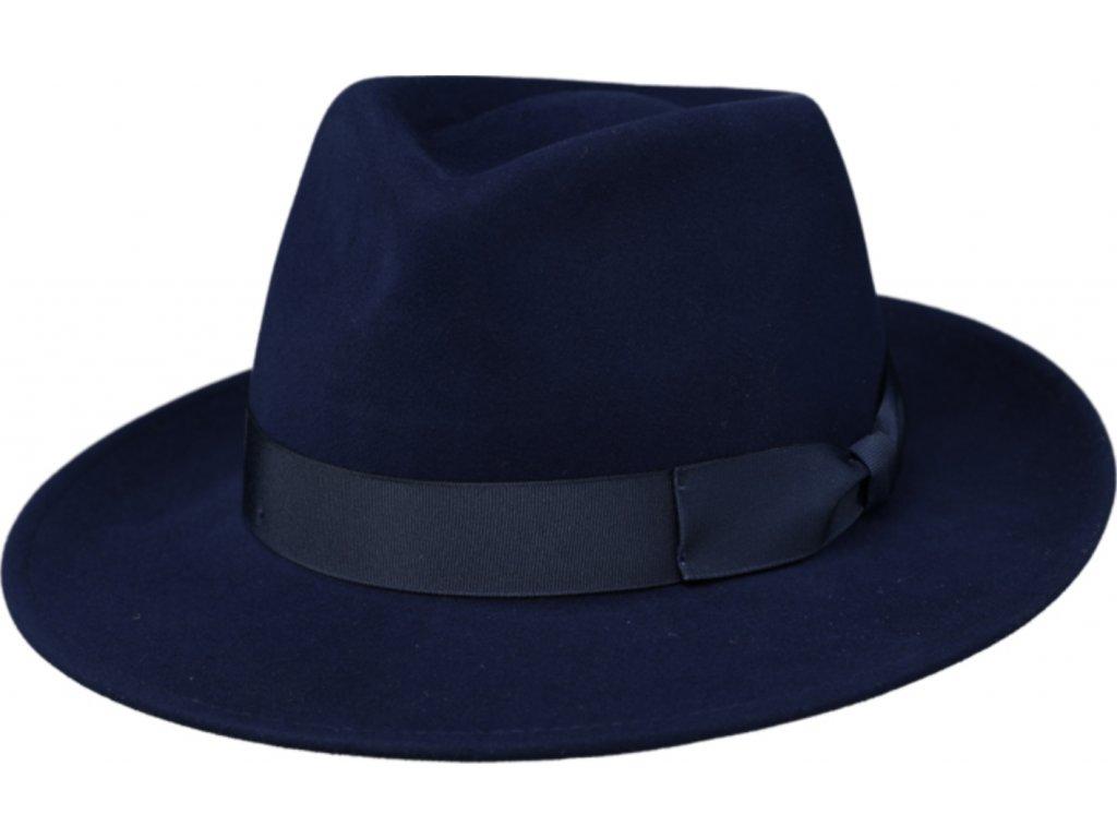 Kašmírový modrý luxusní klobouk Fiebig - limitovaná kolekce Fiebig