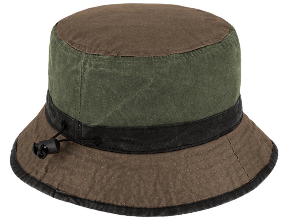 Volnočasový legendární bucket hat od Fiebig 1903 - olivový - sepraná bavlna