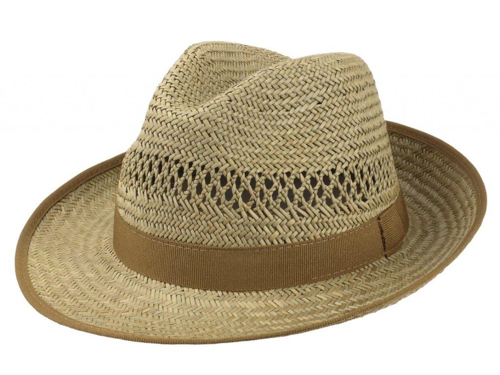 Slaměný fedora klobouk s hnědou stuhou - Bogart - Carlsbad Hat Co.