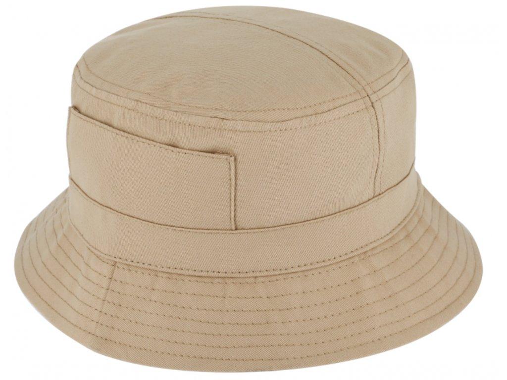 Béžový bucket hat - Fiebig - rybářský klopený klobouk