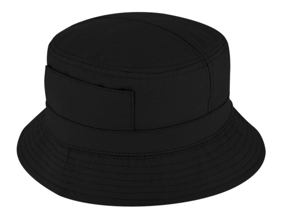 Černý bucket hat - Fiebig - rybářský klopený klobouk