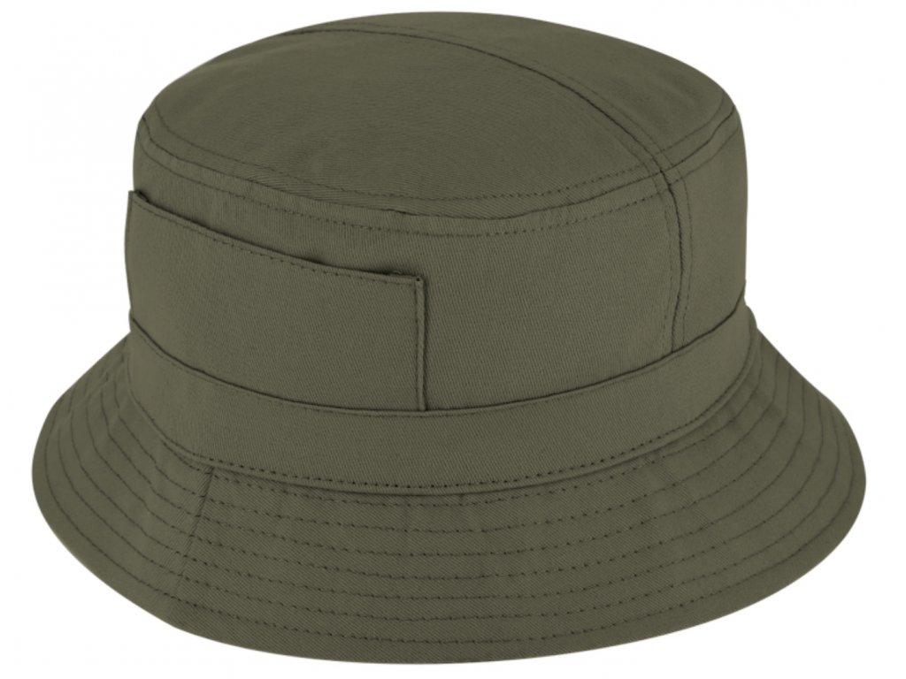 Olivový bucket hat - Fiebig- rybářský klopený klobouk