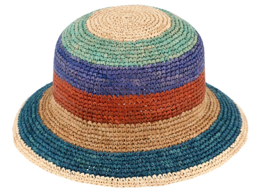 Dámský letní slaměný klobouk Cloche