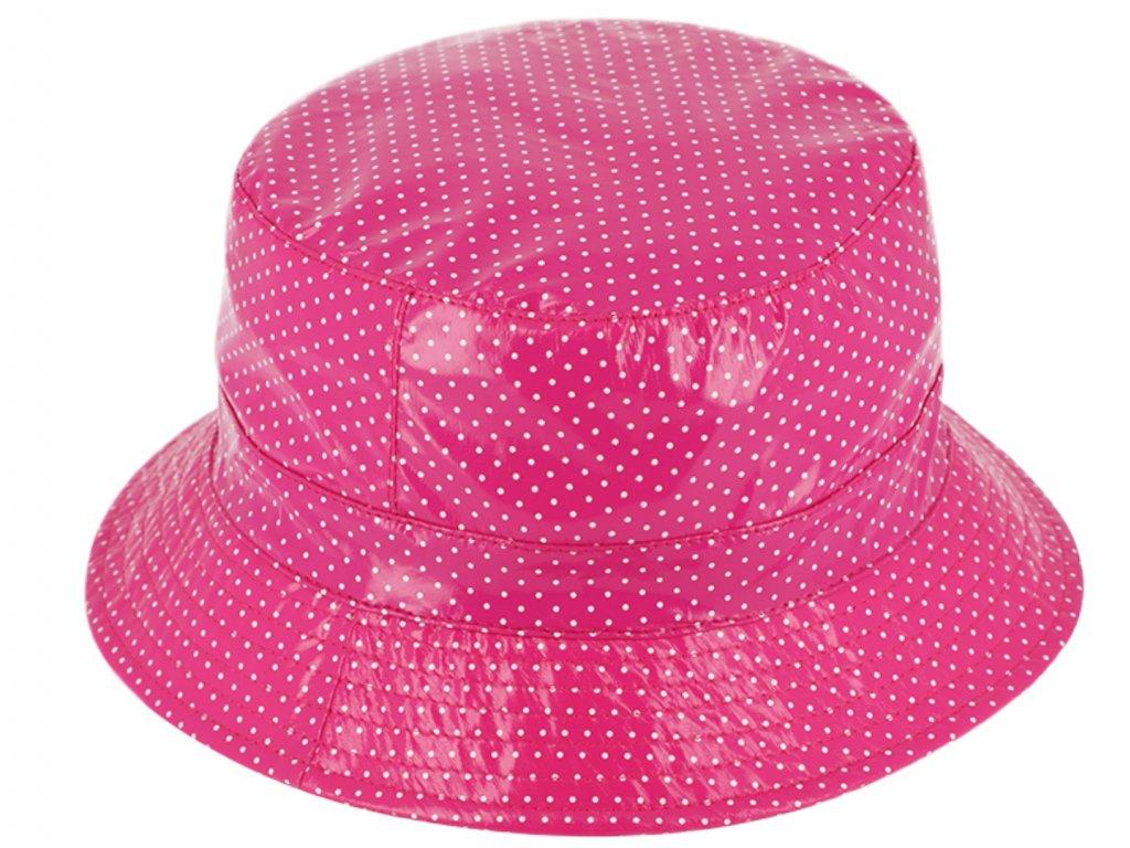 Dámský nepromokavý klobouk - růžový - Bucket Hat