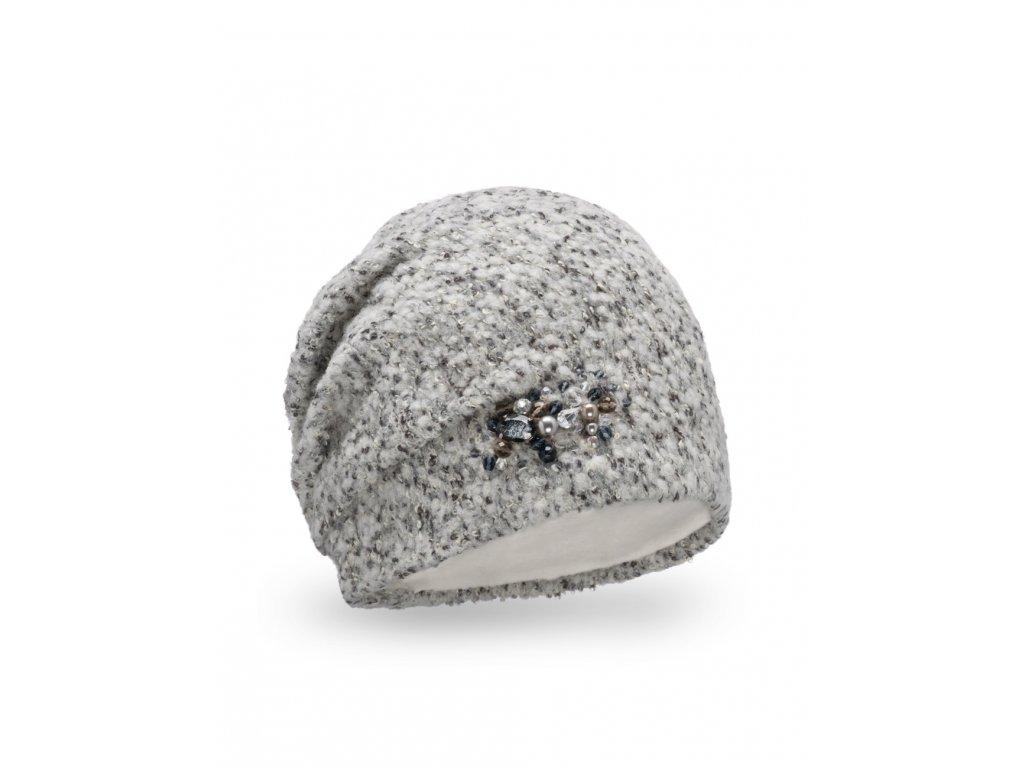 Dámská šedá zimní čepice