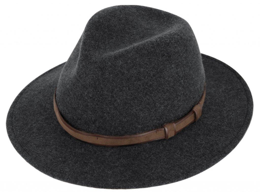 Cestovní 150 gr klobouk vlněný od Fiebig - Traveller voděodolný a nemačkavý