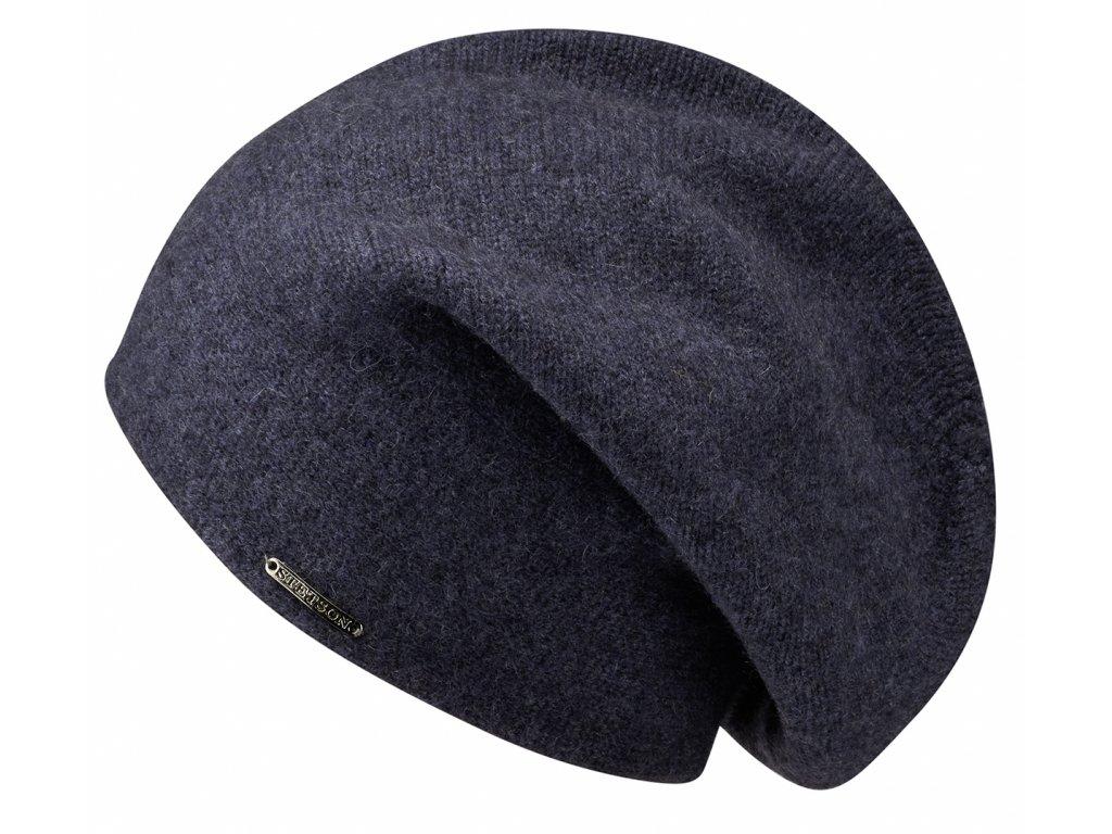 Světlé modrá kašmírová čepice od Stetson - Long Beanie Cashmere - 8699203