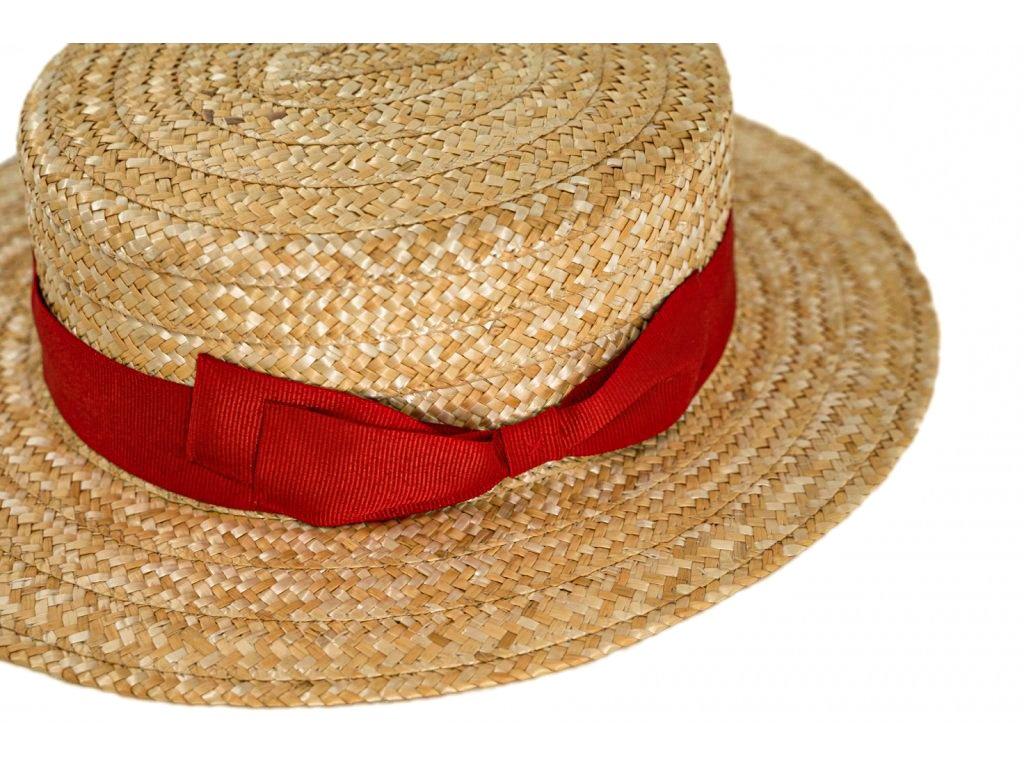 5184 letni slameny boater klobouk zirardak carlsbad hat co nova kolekce s cervenou stuhou