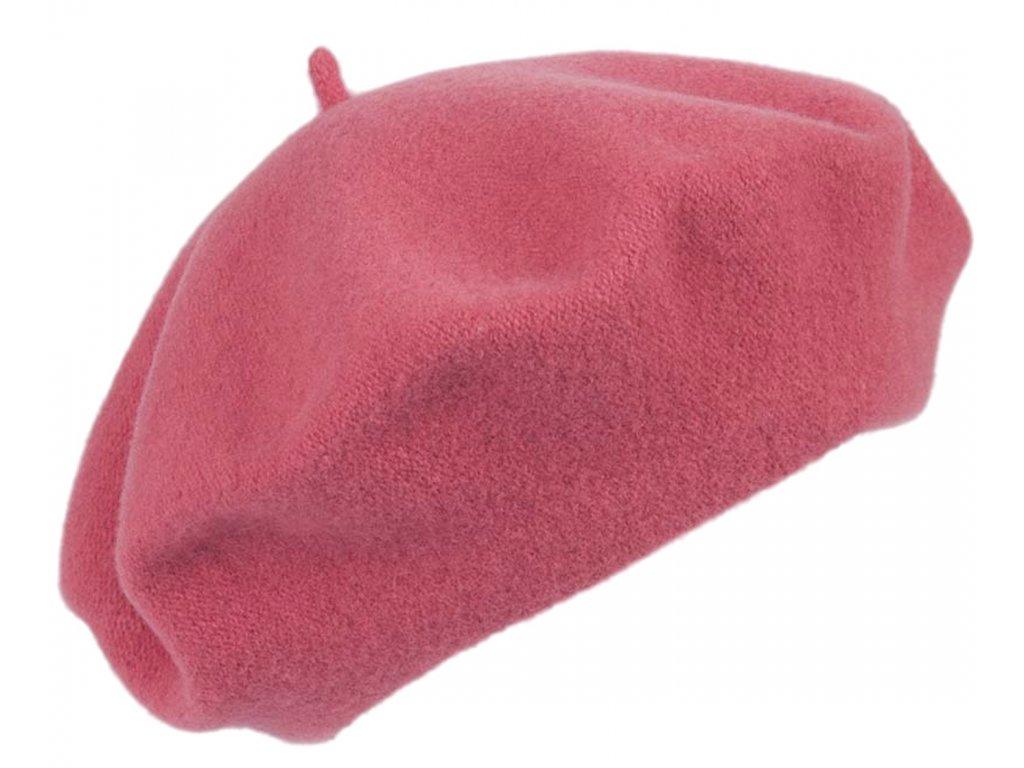 Baret růžový dámský - Flora - 030331