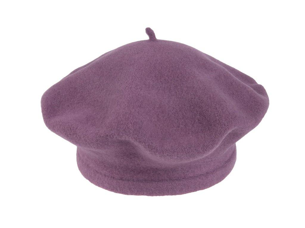 Flora 001 040506 baret pleteny vlneny fialovy