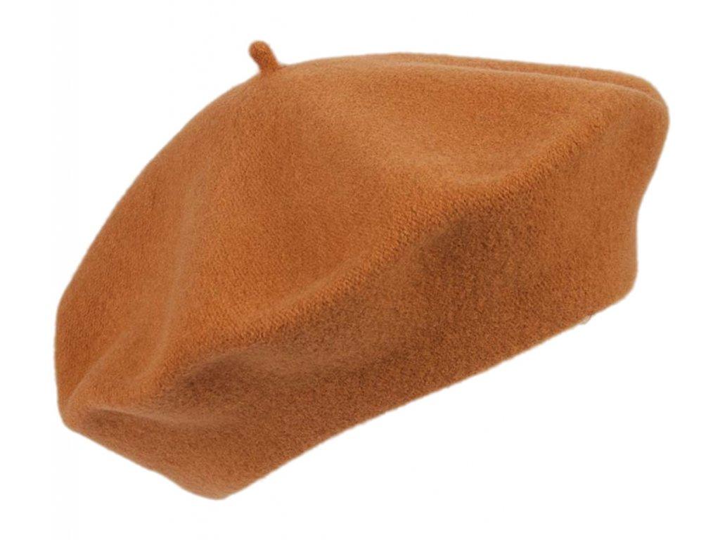 Baret oranžový dámský - Flora - 070889