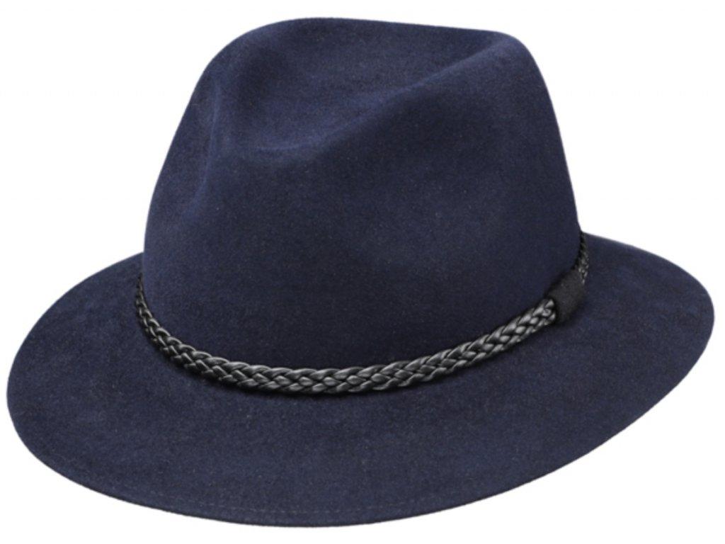 Plstený modrý klobouk