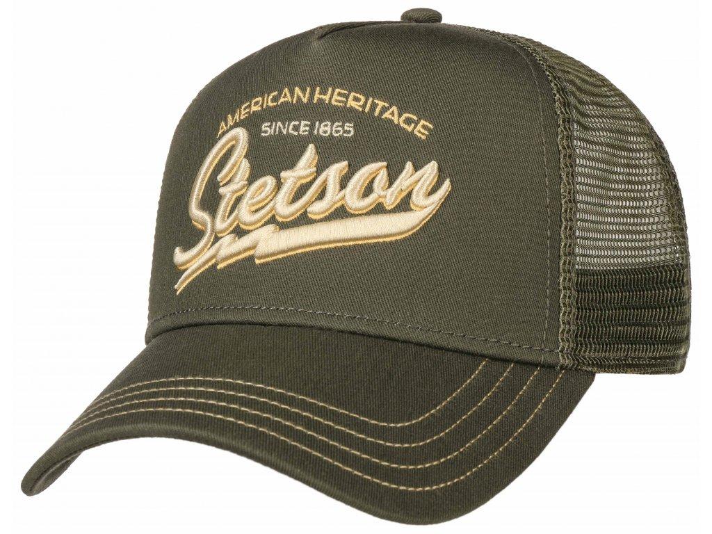 Kšiltovka zelená Stetson American Heritage