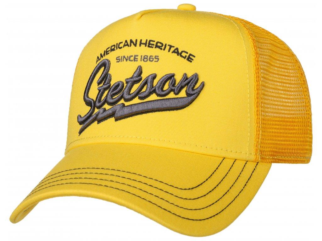 Kšiltovka žlutá Stetson American Heritage