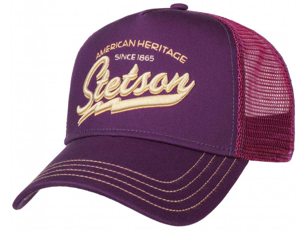 Kšiltovka fialová Stetson American Heritage